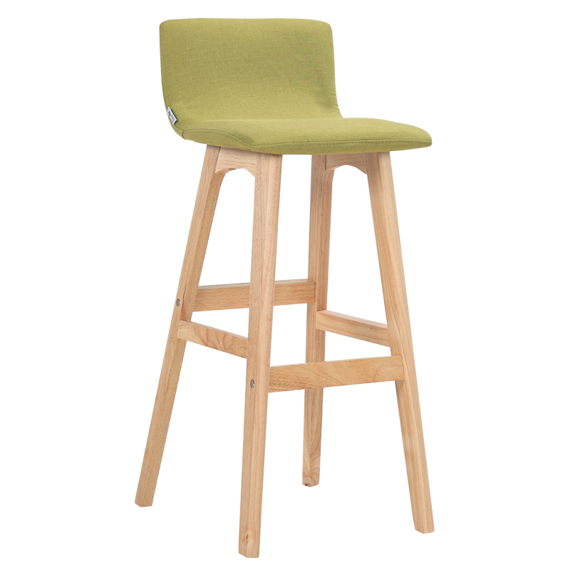 Living Back Solid Wood Bar Chair Nordic Bar Chair Bar Stool Simple Home Front Stool