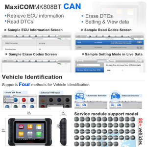 Image 4 - Autel MaxiCOM MK808BT OBD2 เครื่องสแกนเนอร์เครื่องมือวินิจฉัยรถยนต์เต็มรูปแบบการวินิจฉัยระบบ IMMO/EPB/SAS/BMS/TPMS /DPF/รุ่นอัพเกรด MK808