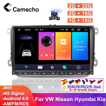 Camecho 2Din Android Car GPS Multimedia Player Car Stereo For Volkswagen VW Skoda Golf Polo Passat b5 MK5 MK6 Jetta T5 EOS Auto image