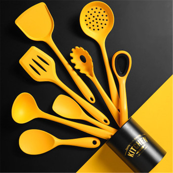 Espátula antiadherente de silicona para cocina, utensilios de cocina navideños, cucharas, utensilio para hornear, utensilios de cocina