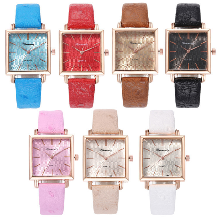 Fashion Belt Series Bracelet Watch Article Exquisite Multicolor Square Nail Surface Watch Joker Lady Wrist Watch