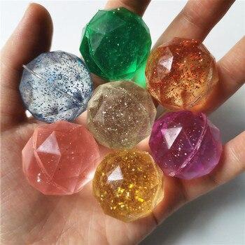 Juguetes para niños, bolas que rebotan con diamantes, juguetes de goma al aire libre para el baño, juguetes deportivos para niños, malabares elásticos, pelotas para saltar, 10 Uds 3cm