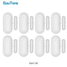 Gautone pb68r janela porta sensor para 433mhz sistema de alarme segurança em casa detectar porta aberta/fechar