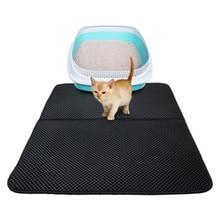 Chat de compagnie litière tapis Double couche litière chat tapis piégeage litière pour animaux de compagnie tapis produits pour animaux de compagnie lit pour chats maison propre outil