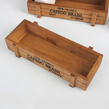Lecho de planta de madera suculenta maceta de madera Vintage cajas de jardín mesa rectangular decoración para el hogar o la oficina caja de almacenamiento de artículos diversos