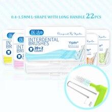 0.4-1.5mm Interdental brush orthodontic tooth brush toothpick dental floss interdental dental oral care tool with box