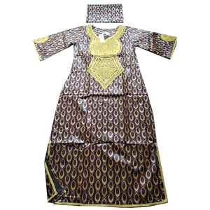Image 3 - MD 2020 new africa dresses for women bazin dashiki african women dresses embroidery women african clothing dress and head wraps