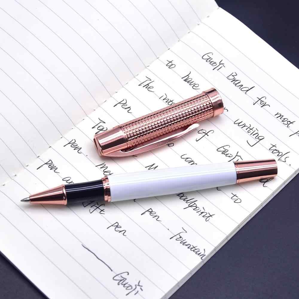 Guoyi A218 różowe złoto długopis żelowy ciężki feel Metal wysokiej klasy biznes artykuły biurowe na prezent i firmowe logo personalizacja długopis signature