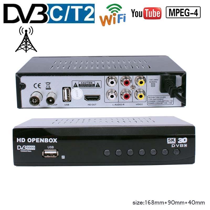 HD MPEG4 DVB T2  TV Receive H.264 Support WIFI Youtube Full HD Terrestrial TV Receiver TV BOX