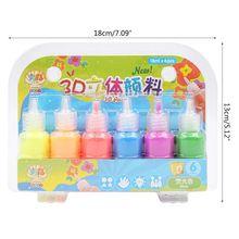 6 Colors Kids 3D Acrylic Paint Pigment Set for Children Graffiti DIY Painting
