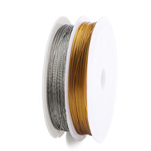 Nouvelle corde de fil de pêche en acier inoxydable de couleur or pour la fabrication de Bracelets et de bijoux