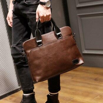 Handbag Men's Shoulder Korean Casual Crossbody Trend Computer Bag PU Men's Bag 2019 New JIULIN