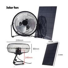 Вентилятор на солнечной батарее 52 Вт 8 дюймов с usb