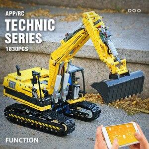 Mould König 20007 Technik Auto Spielzeug Kompatibel mit 8043 Motorisierte Bagger Modell Bausteine Ziegel Kinder Weihnachten Geschenke