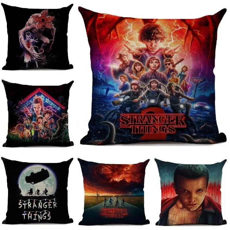 stranger things cushion cover living room sofa decorative throw pillows home decoration pillowcase 45 45cm friends gift