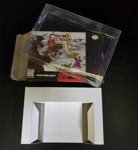 Image 3 - Reproduction Game Retail Box + White Inner lining + Plastic Protective Box For 16 Bit Game Cartridge Card (No Game)