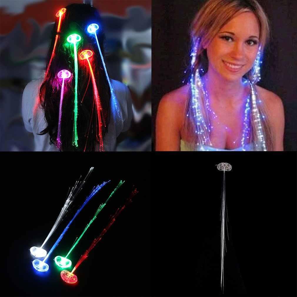 여러 가지 빛깔의 색상 변경 LED 깜박이 광섬유 머리 끈 팬티 파티 조명에 대 한 조명 머리 띠 스타일링 액세서리