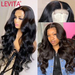 Levita wholesale body wave lace front wig frontal wig Brazilian lace front Human Hair Wigs for black women 4x4 lace closure wig