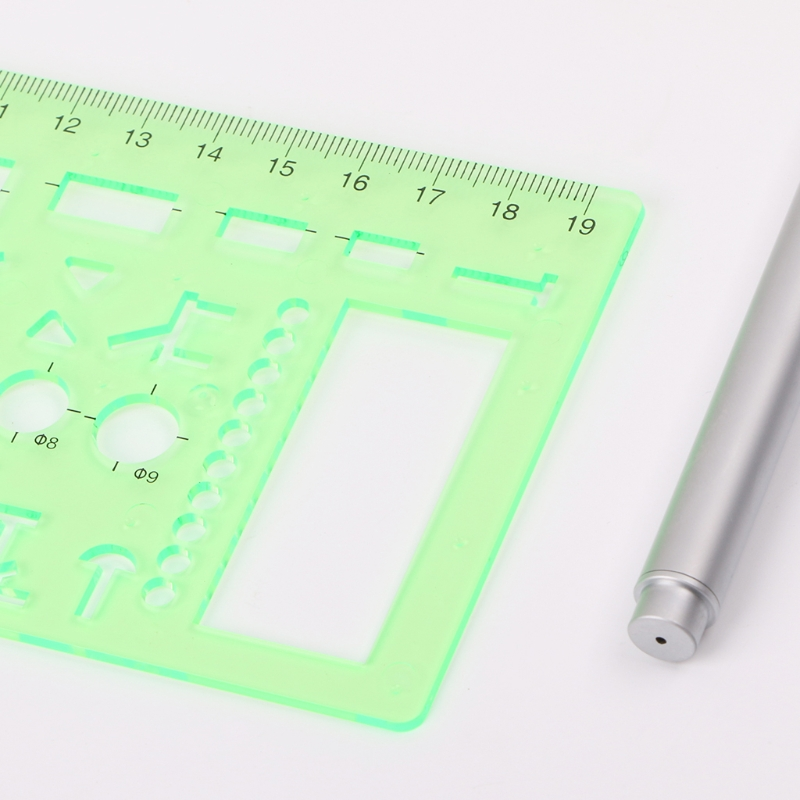 Plastic Geometric Template Ruler Stencil Measuring Tool For Electrician Formwork LX9A
