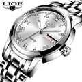 2020 LIGE トップブランドの高級腕時計女性防水ファッションの女性は女性クォーツ腕時計レロジオ Feminino Montre ファム