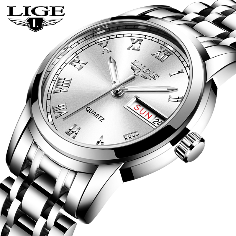 2020 LIGE Top Brand Luxury Women Watches Waterproof Fashion Ladies Watch Woman Quartz Wrist Watch Relogio Feminino Montre Femme