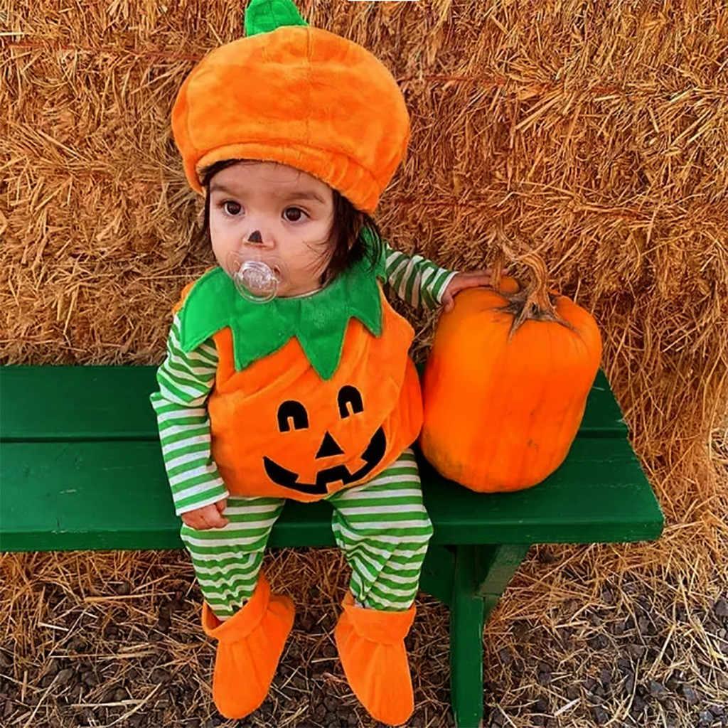 Baby Halloween Pumpkin.Baby Halloween Pumpkin Costumes Toddler Infant Girls Demon Pumpkin Print Romper Cap Shoes Outfits Set Newborn Baby Girls Clothes Clothing Sets Aliexpress