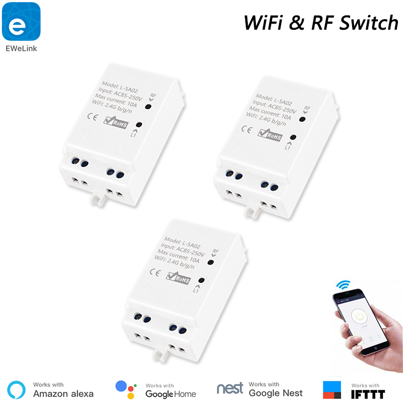 eWeLink Inching RF433 WiFi Smart WiFi Switch Support APP/433 RF/LAN/Voice Remote Control DIY Mode Works With Alexa Google Home
