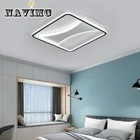 Sala de estar luz moderno e minimalista quarto lâmpada led lâmpada do teto iluminação criativa personalidade iluminação retangular