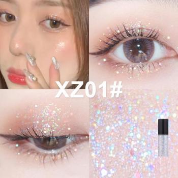 Liquid Eyeshadow Pearlescent Liquid Eyeliner Lying Silkworm High-gloss Eye Cosmetic Easy To Wear Waterproof Natural Makeup TSLM2 1