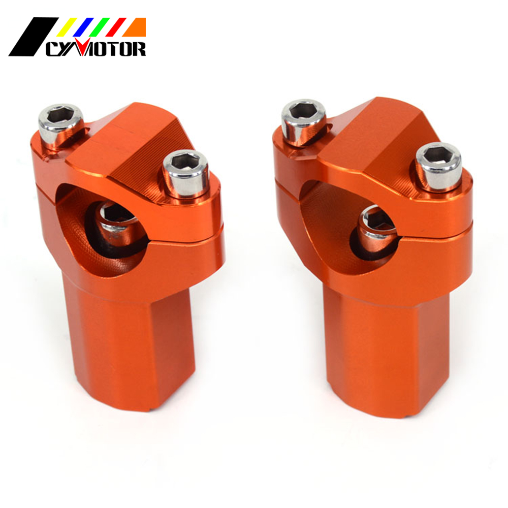 Motorcycle Higher <font><b>28MM</b></font> <font><b>Handlebar</b></font> Clamp <font><b>Risers</b></font> Bar Mount Clamp For KTM SX SX-F XC-W XCF-W EXC-F 125 150 200 250 300 350 400 image