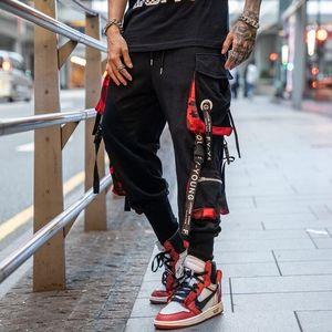 Men Purple Joggers Pants Mens Pockets Streetwear Cargo Pants Male Hip Hop Track Pants Korean Fashions Overalls