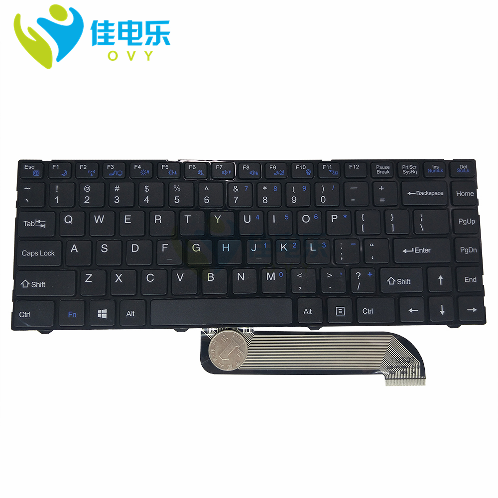 Fast Ship OVY US Laptop Keyboard For Lengda X300 X300V X300B X300H With Backlit P/N:DOK-V6369A-US KB