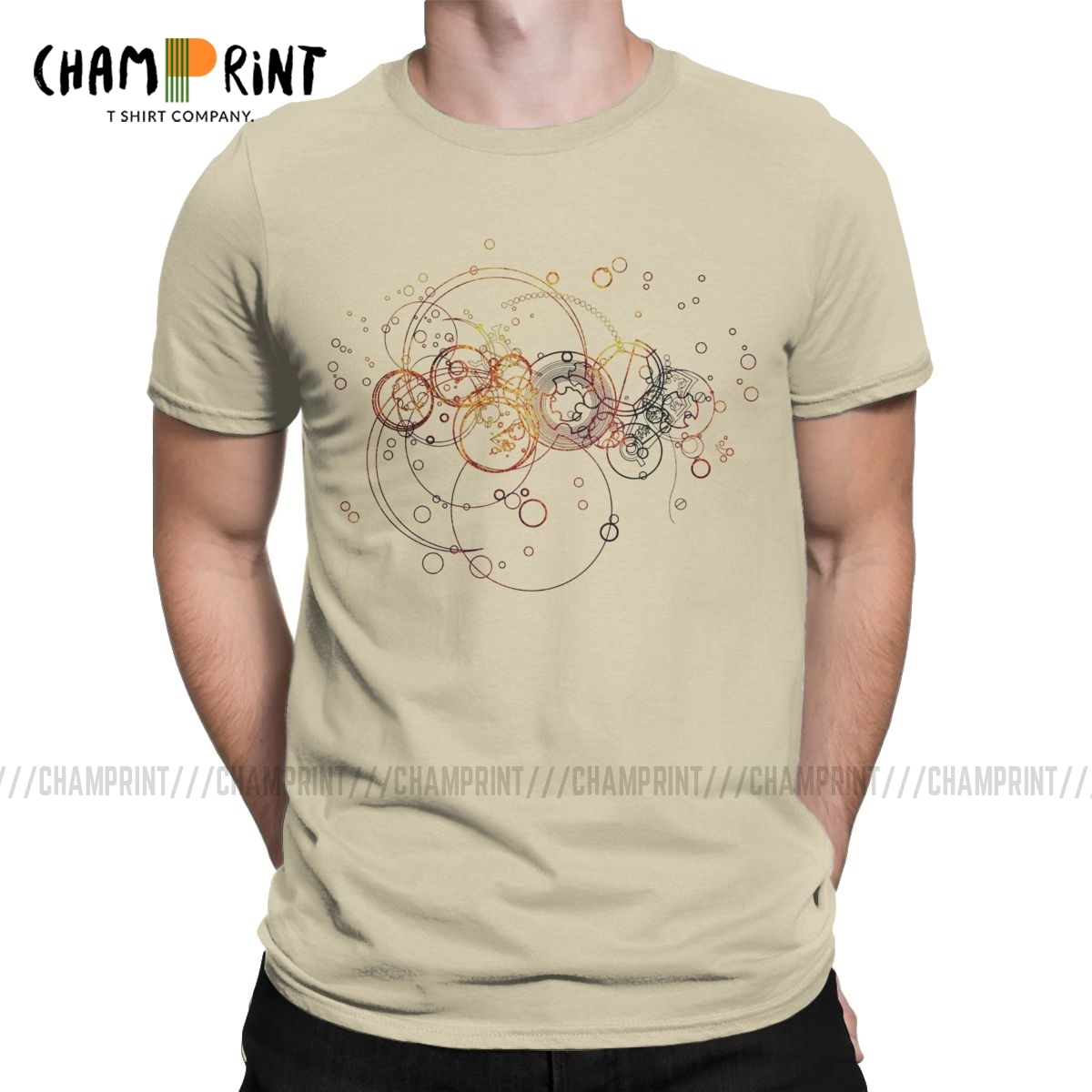 Time Lord Writing T Shirt Men's Cotton 2019 Fashion T-Shirts Mandala Sacred Religious Geometry Tees Short Sleeve Clothes