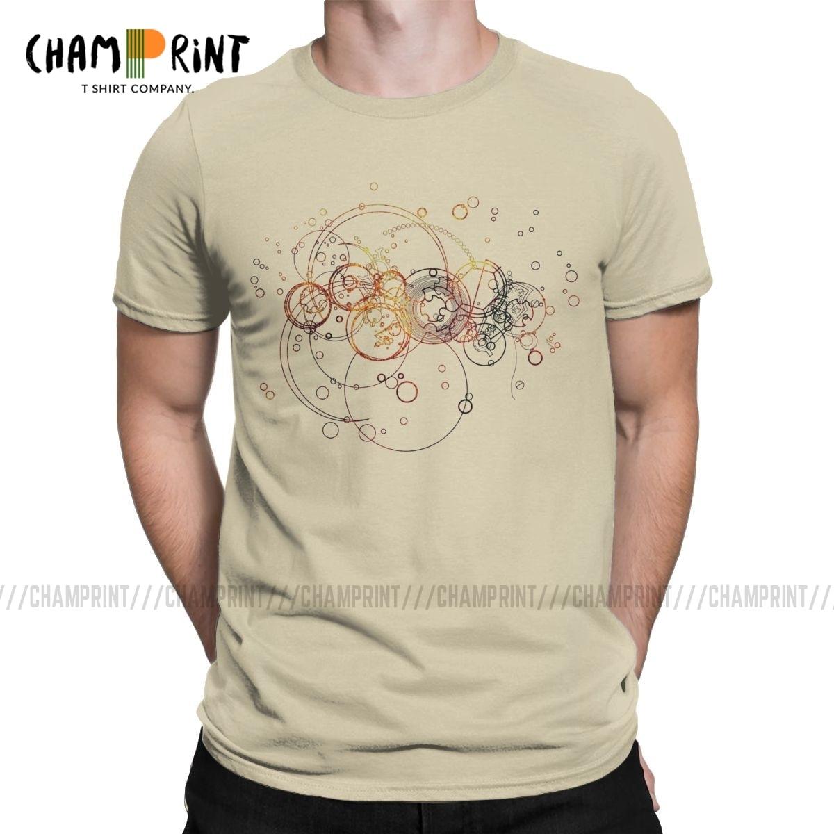 Time Lord Writing T Shirt Men's Cotton 2019 Fashion T-Shirts Mandala Sacred Religious Geometry Tees Short Sleeve Clothes