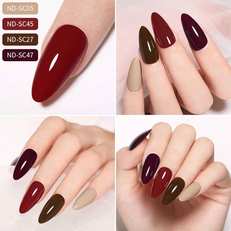 NICOLE journal 8ML Gel de couleur solide longue durée LED lampe UV Gel pour les ongles pas de produits de Surface vernis à ongles Gel d'art des ongles