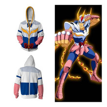 Anime Saint Seiya Cosplay Ikki zipper hoodie men and women anime costume popular sports sweater 3D printing New