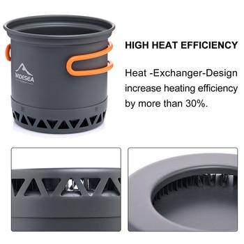 Widesea Camping Cookware Outdoor Cooking Set Heat  Cooker Travel Tableware Tourist Kitchen Pot Utensil Equipment 4