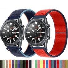 20 22mm pulseira de relógio para engrenagem s3 fronteira pulseira galaxy relógio 3 45mm 41mm 46 ativo 2 44mm 40mm náilon huawei relógio gt2e/2 cinta 42
