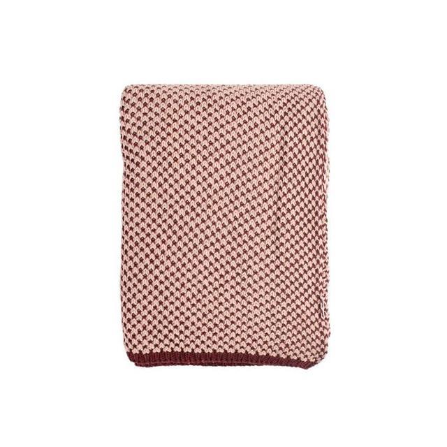 Плед односпальный TKANO, Essential, 130*180 см, двухцветный