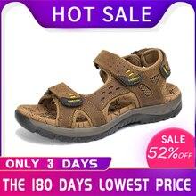 URBANFIND/Лидер продаж, новая модная летняя пляжная Мужская обувь для отдыха кожаные сандалии высокого качества мужские сандалии больших размеров 38-48