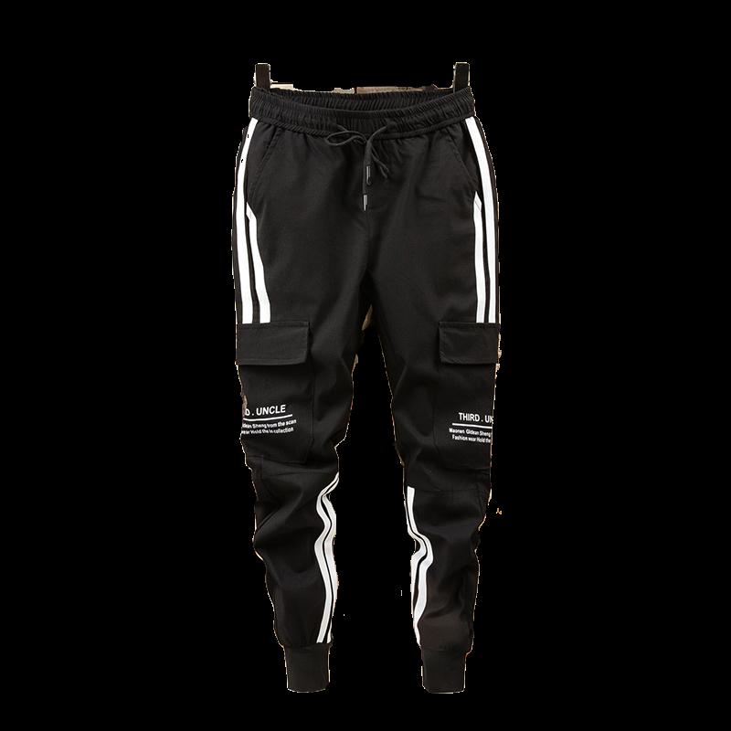 Men's Side Pockets Cargo Harem Pants 2019 Hip Hop Casual Male Tatical Joggers Trousers Fashion Casual Streetwear Pants