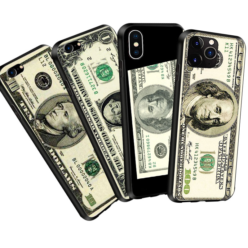 Coque Fashion Vintage Money <font><b>Dollar</b></font> Soft Silicone <font><b>Phone</b></font> Case Cover for iPhone 11 Pro Max X XR XS <font><b>5</b></font> 6 6S 7 8 Plus Case Capinhas image