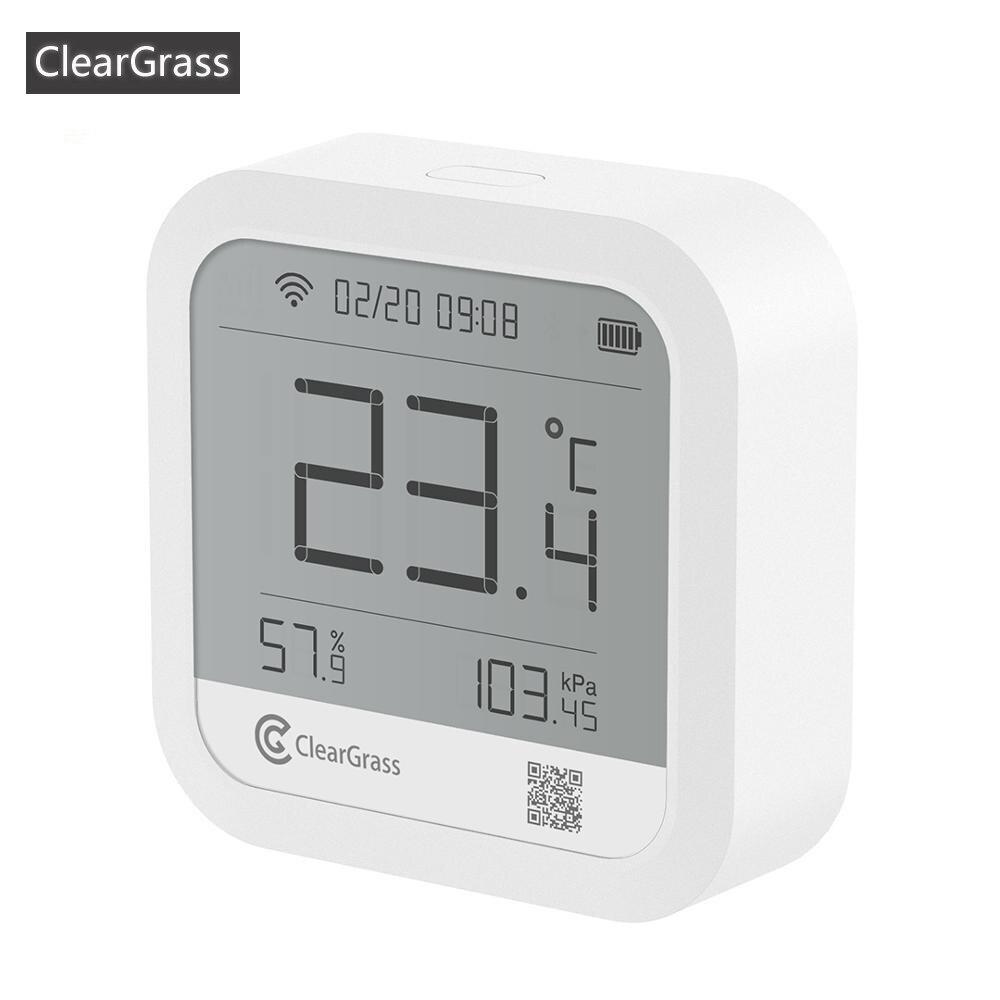 monitorizaci/ón del Valor de di/óxido de Carbono PM2.5 tVOC Negro Cleargrass Detector Inteligente de Calidad del Aire con Pantalla t/áctil IPS de 3,1 Pulgadas con Temperatura y Humedad