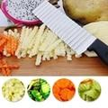 Edelstahl Kartoffel Chip Slicer Teig Gemüse Obst Crinkle Wellenförmige Slicer Messer Kartoffel Cutter Chopper Französisch Braten Maker Werkzeuge