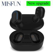 TWS Bluetooth אוזניות 5.0 אמיתי אלחוטי אוזניות עם מיקרופון דיבורית שליטת AI עבור xiaomi Redmi אוזניות סטריאו אוזניות