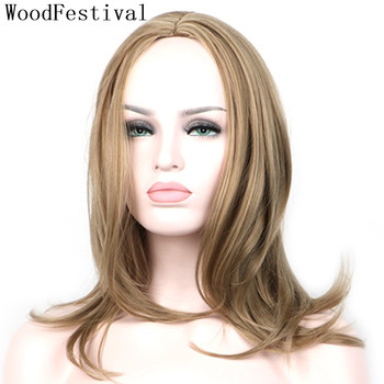 WoodFestival Heat Resistant Synthetic Wig Hair Cosplay Short Bob Wigs for Women Black Grey Brown Blonde BobHairstyle Party woodfestival 20inch women wigs hair heat resistant black to navy blue curly synthetic wig cosplay