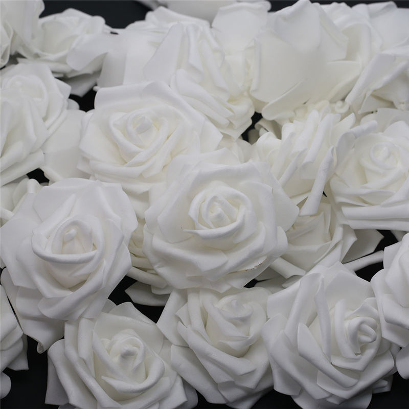 10 шт.-100 шт., искусственные розы из пенополиэтилена