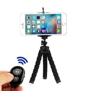 Image 3 - Tripods tripod for phone Mobile camera holder Clip smartphone monopod tripe stand octopus mini tripod stativ for phone
