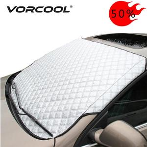 Vorcool Car Windshield Sunshade Dust Cover Automobiles Rain Ice Snow Protector Anti Heat Front Window Thick Car SUV Cover(China)