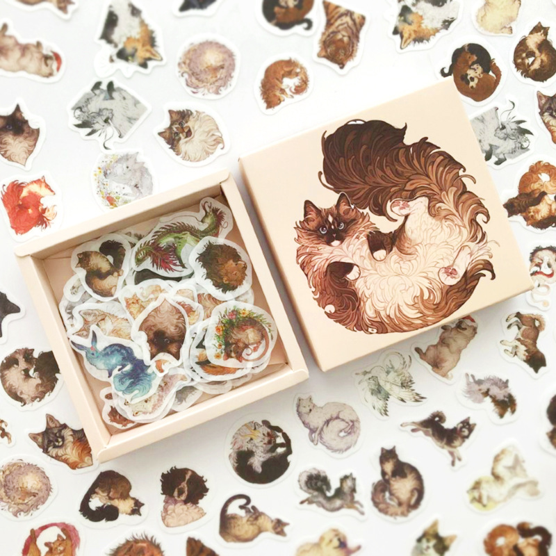 200 Pcs/pack Cute Variety Animals Series Box Bullet Journal Decorative Stationery Stickers Scrapbooking DIY Diary Album Stick